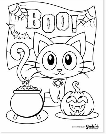 free halloween printable coloring sheets - website roundup - cute cat coloring page