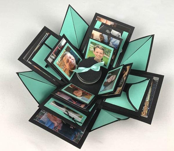 explosion box diy tutorial gift box