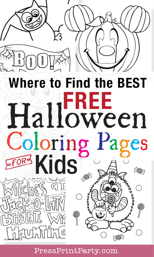free printable halloween coloring page bat craft - Press Print Party!