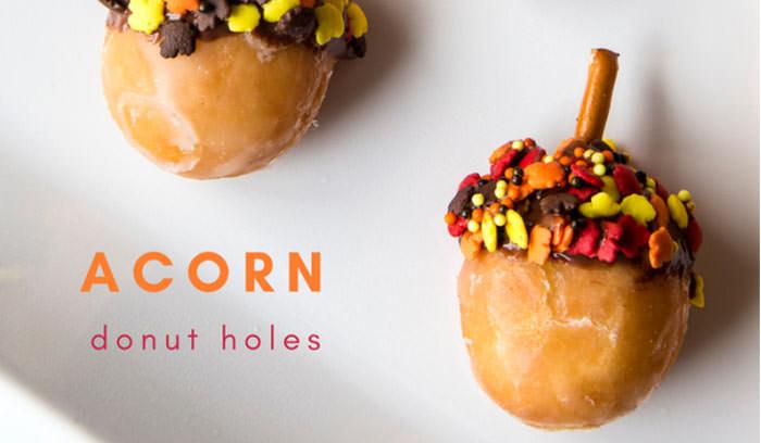 donut acorns - Cute desserts for thanksgiving