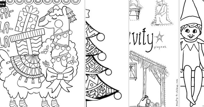 Tons Of Free Printable Christmas Coloring Pages For Kids And Adults Press Print Party