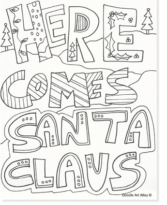 here comes santa claus coloring page