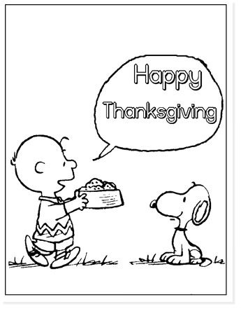 charlie brown happy thanksgiving