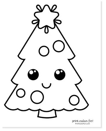 christmast tree coloring pages