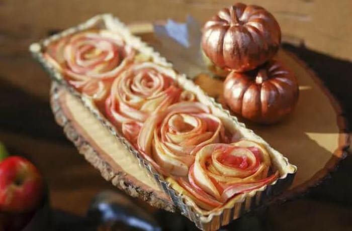 rose apple tart - Cute desserts for thanksgiving