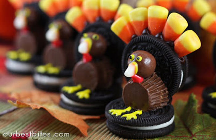 candy turkeys - Cute desserts for thanksgiving