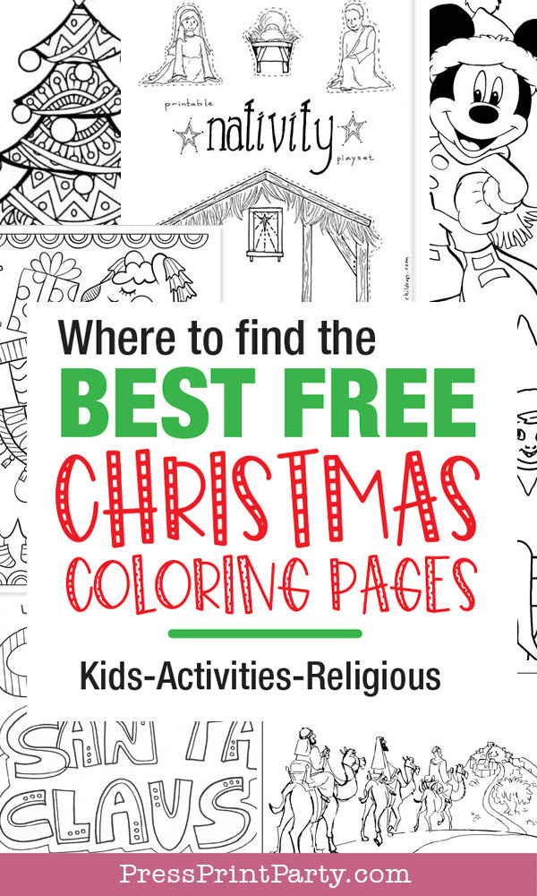 where to find the best free christmas coloring pages kids activites religious