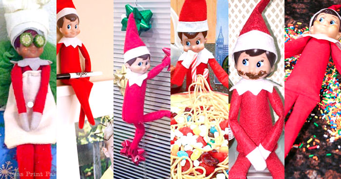 25 funny and easy elf on the shelf ideas - Press Print Party