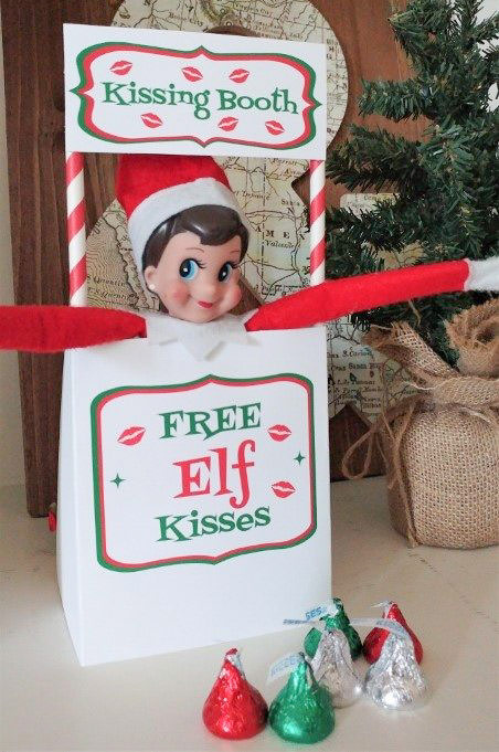 kissing booth 25 funny and easy elf on the shelf ideas - Press Print Party