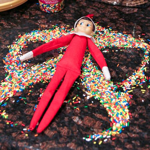 elf sprinkle angel. elf funny on the shelf ideas