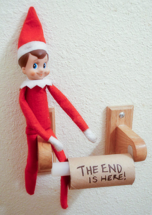 elf on the shelf idea the end is here