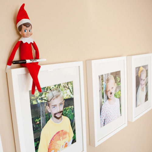 naughty elf on the shelf idea coloring pictures