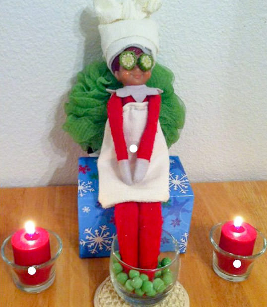 elf on the shelf idea spa