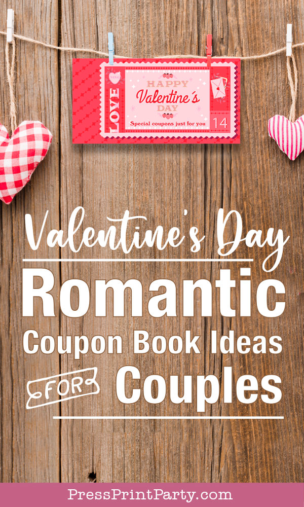 Valentine's day romantic coupon book ideas for couples date night ideas love coupons - Press Print Party!