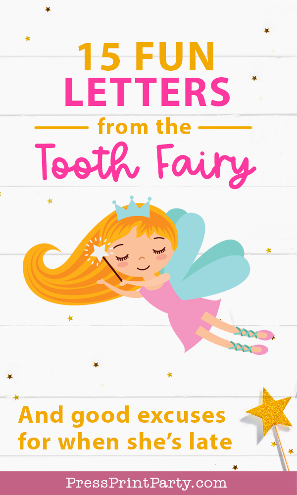 15 Fun Letters from the Tooth Fairy – And Good Excuses for When She's Late. Tooth Fairy Notes and late apology letters. Tooth Fairy messages ideas and answers to questions