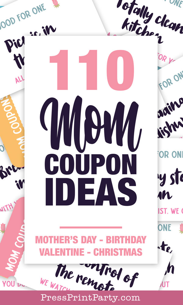 110 mom coupon ideas. mothers day, birthday, valentines, christmas