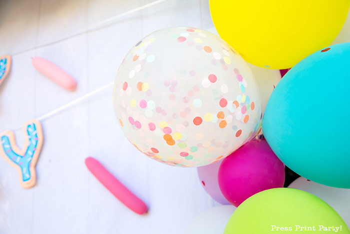 confetti balloon for balloon garland for donut party ideas birthday - Press Print Party
