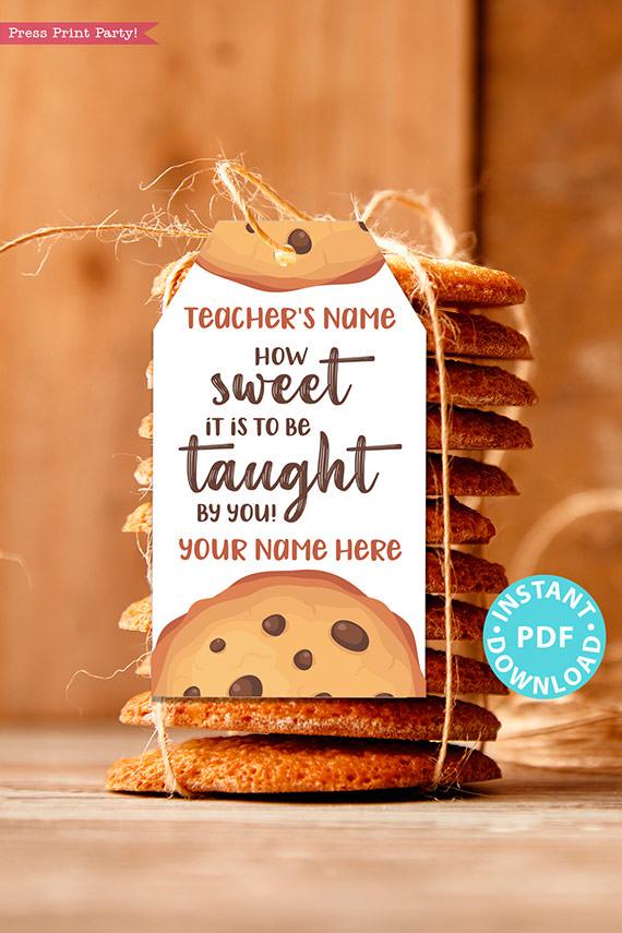 Teacher Appreciation Gift Tags Printable Donut Tag Press Print Party