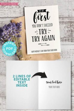 FUNNY Mother's Day Card Printable, 5x7