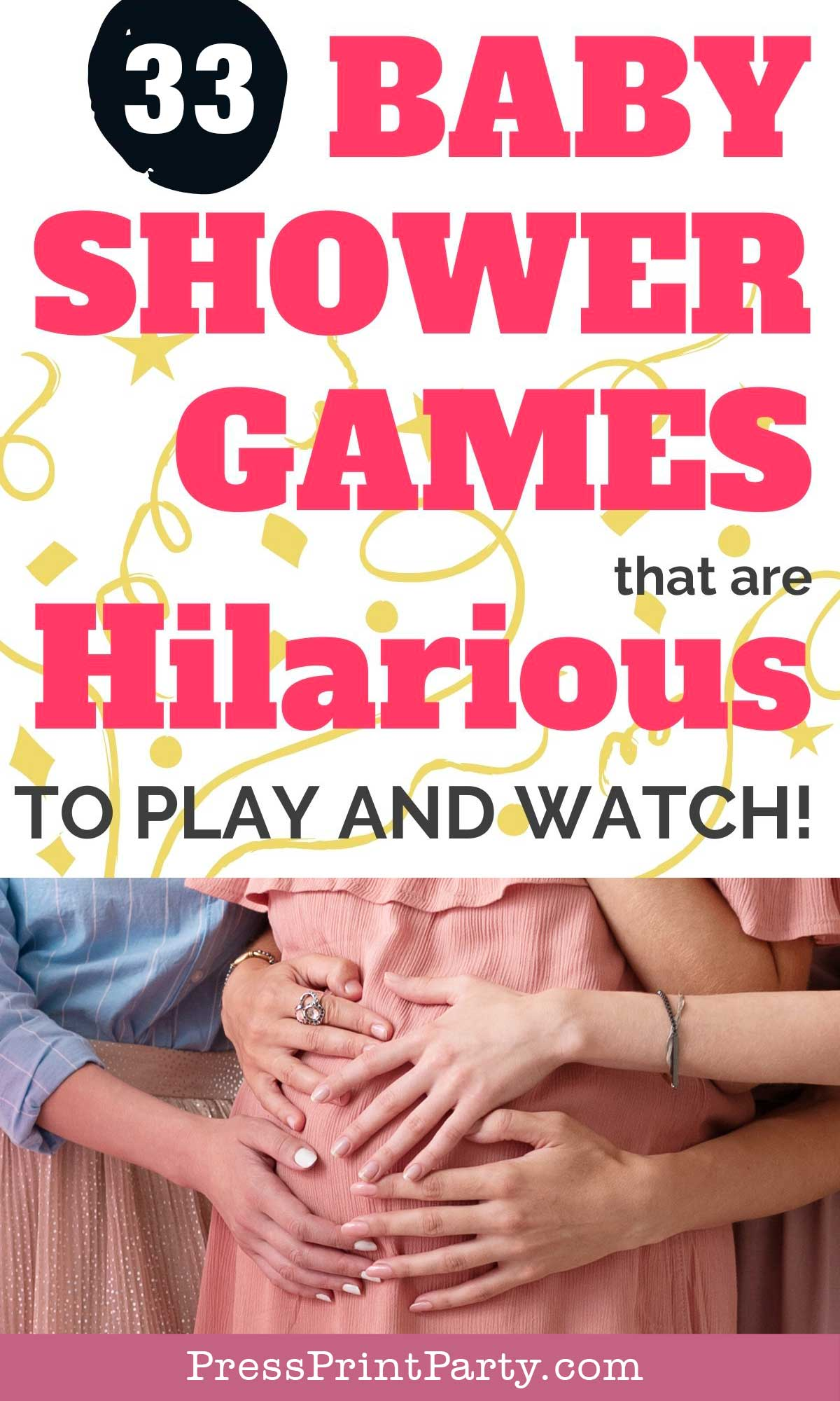 33 competitive baby shower games that are hilarious to play and watch - Press Print Party!
