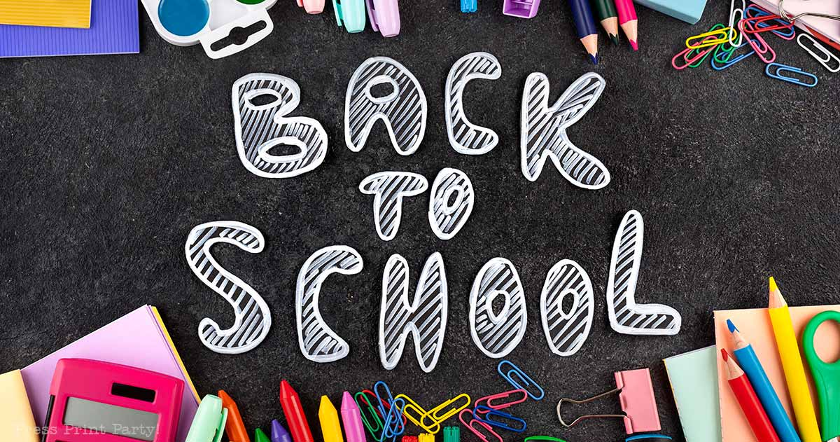back to school. 3 fun things to do on the first day of school by Press Print Party!