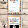 """EDITABLE Back to School Amazon Gift Card Holder Teacher Gift Printable, Welcome Back, First Day of School, Template, 5x7"""" INSTANT DOWNLOAD"""